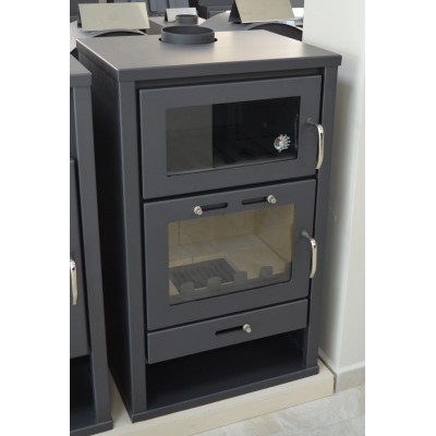 Wood Burning Stove with Integral Boiler and Oven 20kW for Central Heating