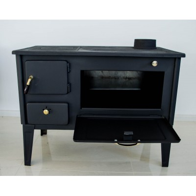 Woodburning Cooking Stove with an Oven 7 kW cast iron top PROMETEY NAR TYPE