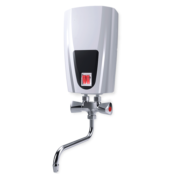 Instantaneous water heater with metal head mixing tap, 5.0 kW E51