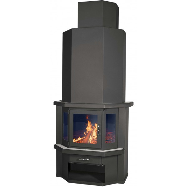 Wood Burning Stove With Integral Boiler Diplomat 21 B