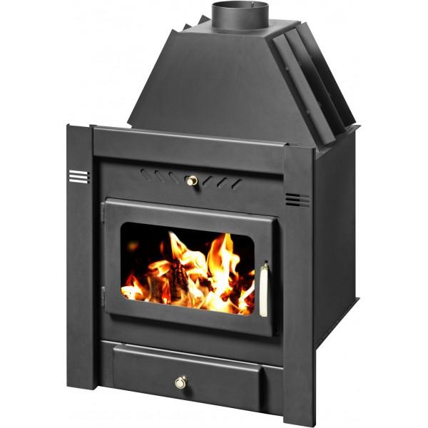 Built-in Fireplace with Integral Boiler Sahara B
