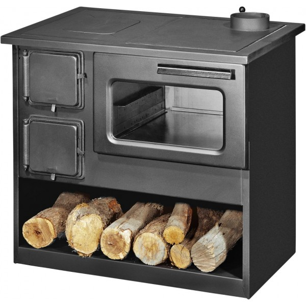Wood Burning Cooking Stove With Oven Metalik M