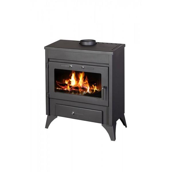 Wood Burning Stove With Integral Boiler Modena B