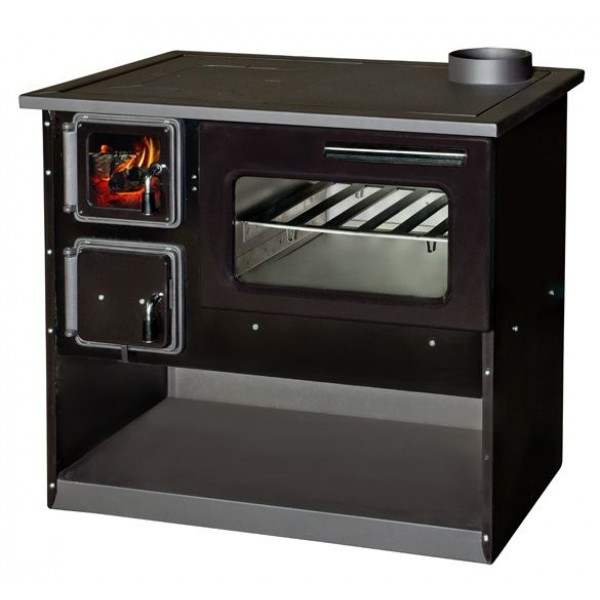Wood Burning Cooking Stove With Oven Ognyana - Black