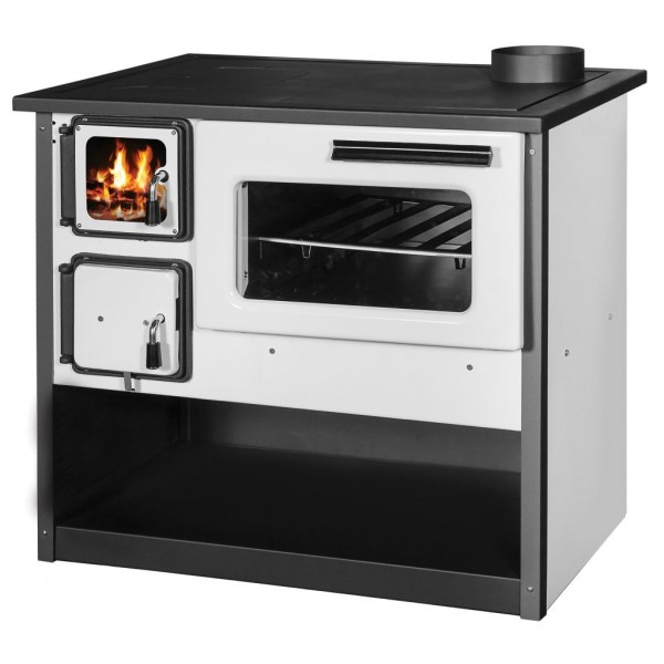 Wood Burning Cooking Stove With Oven Ognyana - White