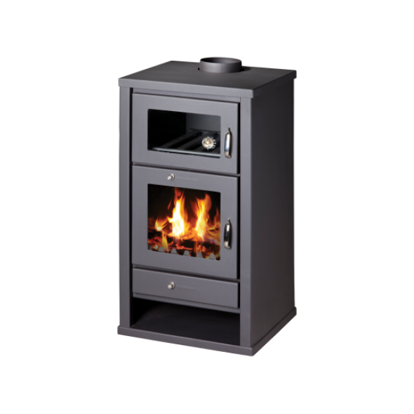 Wood Burning Stove With Oven Deluxe F