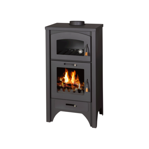 Wood Burning Stove With Oven Deluxe FR