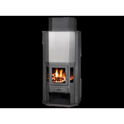 Wood Burning Stove With Integral Boiler Diplomat BO-v