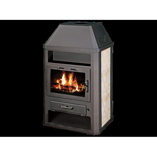 Wood Burning Stove With Integral Boiler Grande ABO-tv