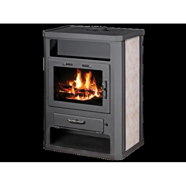 Wood Burning Stove With Integral Boiler Grande BO-tv