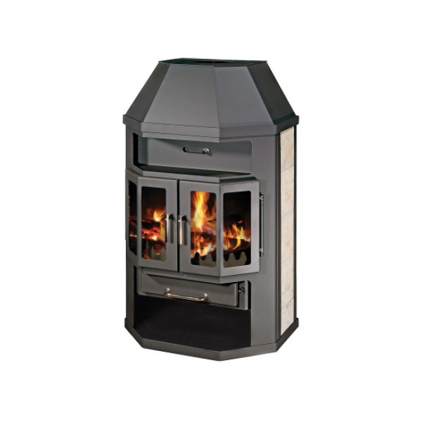 Wood Burning Stove With Integral Boiler Grande Lux ABO-tv