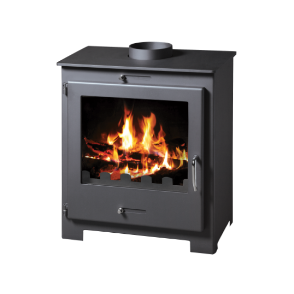 Wood Burning Stove With Integral Boiler Nero Lux BO