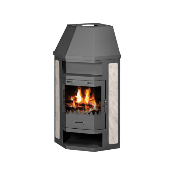 Wood Burning Stove With Integral Boiler Pearl AB