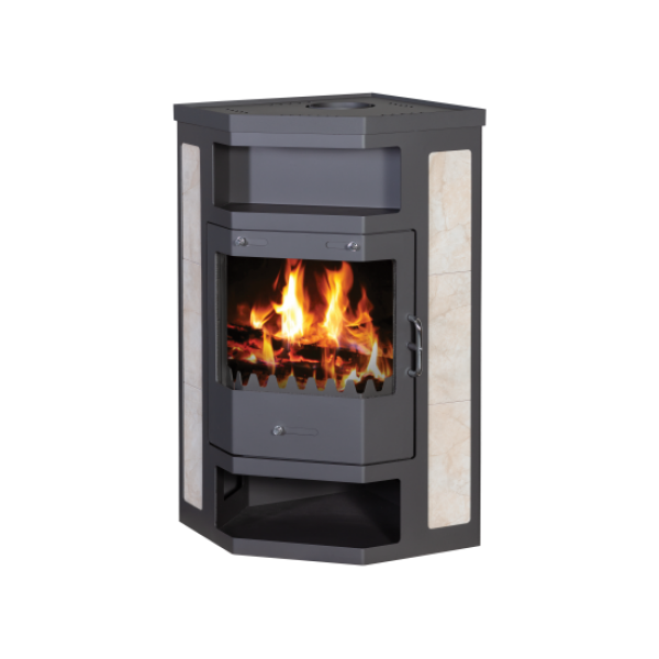 Wood Burning Stove With Integral Boiler Pearl B