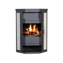 Wood Burning Stove With Integral Boiler Pearl B