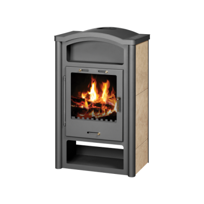 Wood Burning Stove With Integral Boiler Rein KB