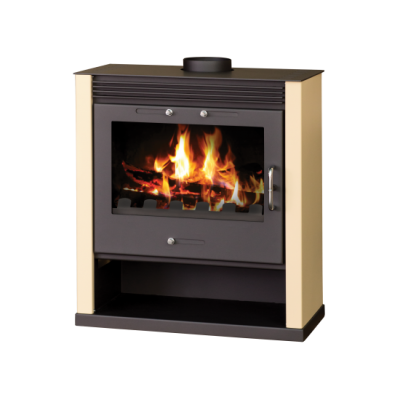 Wood Burning Stove With Integral Boiler Rubin B (Ivory Color)