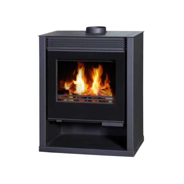 Wood Burning Stove Rubin Lux (Black Color)