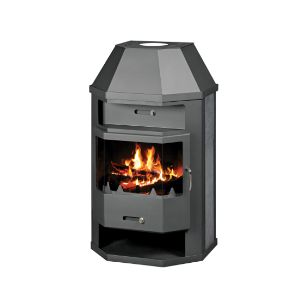 Wood Burning Stove With Integral Boiler Titan ASBO-tw