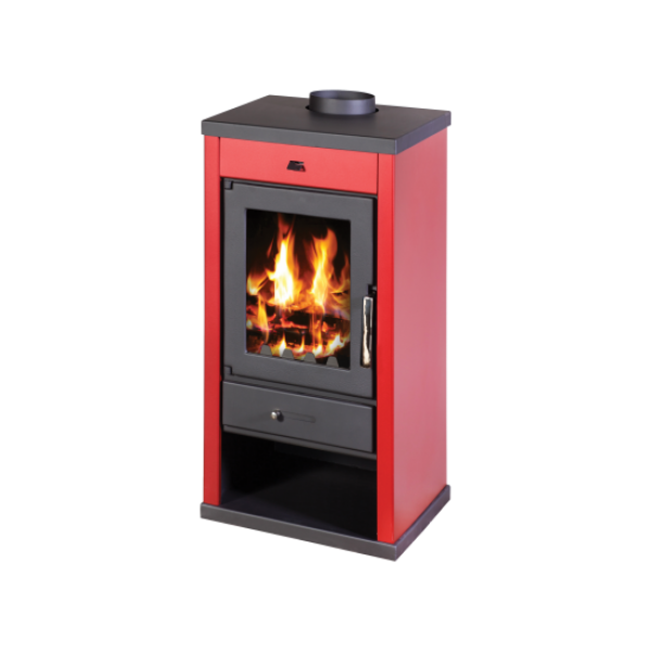 Wood Burning Stove Vanessa (Red Color)